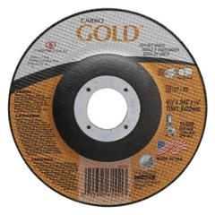ORS481-05539561551 - CarborundumCarbo™ Goldcut Reinforced Aluminum Oxide Abrasives, Type 27, 4 1/2 X .045 X 7/8, 30 Grt