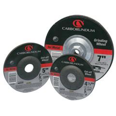 ORS481-05539561568 - CarborundumDepressed Center Wheel, 4 1/2 In Dia, 1/4 In Thick, 5/8 Arbor, Hardness Grade Q, 20 EA/BX