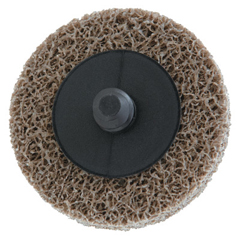 MER481-66261054183 - Merit AbrasivesDeburring /Finishing Button Mount Wheel Type Lll 2A, 2X1/4, Med, Aluminum Oxide