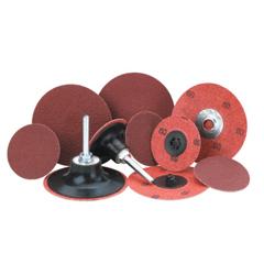 MER481-69957399641 - Merit AbrasivesAluminum Oxide Plus Quick Change Cloth Discs, 2 In Dia., 60 Grit