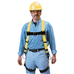 FND493-850-4-XXXLYK - HoneywellNon-Stretch Harness, Back D-Ring, Tongue Legs, Mating Chest, 3X-Large
