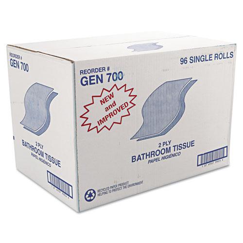 Bettymills standard two ply wrapped toilet tissue rolls gen gen 700 Boardwalk 6145 bathroom tissue