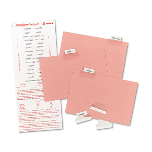 picture regarding Printable Index Tabs known as Self-Adhesive Tabs w/White Printable Inserts, 1, Apparent Tab, 25/Pack
