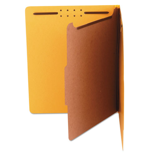 Four-Section Yellow Universal Pressboard Classification Folders Letter 2 Box of 10