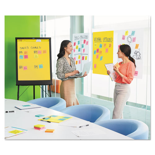 Post-it Self Stick Wall Easel Unruled Pad 20 x 23 White 20 Sheets 4 Pads//Carton