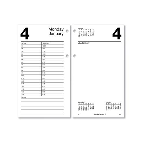Bettymills Large Desk Calendar Refill 4 1 2 X 8 White