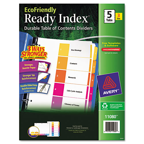 Bettymills avery ecofriendly ready index table of for Avery ready index template 31 tab