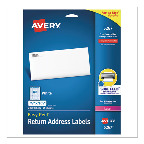 bettymills avery easy peel return address labels avery 5267