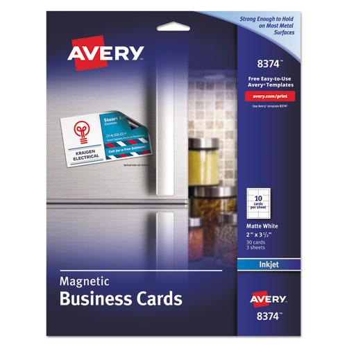 Bettymills averyr inkjet magnetic business cards avery for Avery magnetic business cards