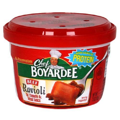 Conagra Foods Chef Boyardee Beef Ravioli Microwave Meal
