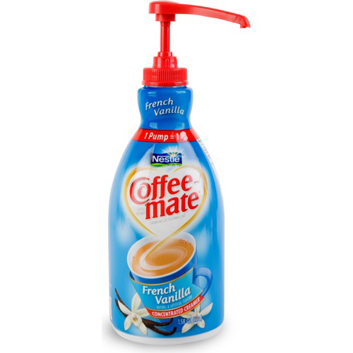 coffee mate pump how to open