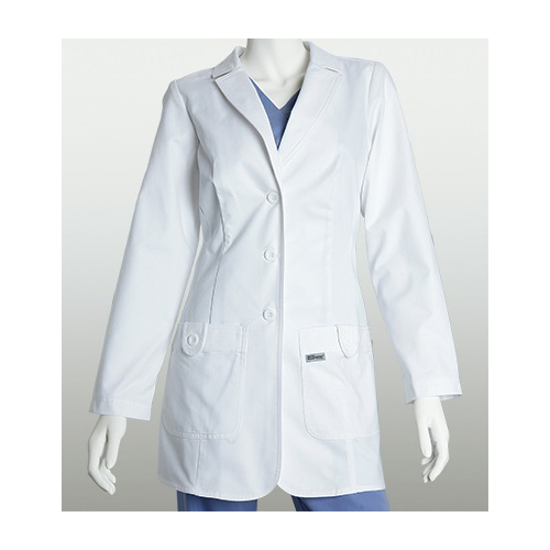 """BettyMills: Women's 32"""" 2-Pocket Fitted Lab Coat - Grey's ..."""