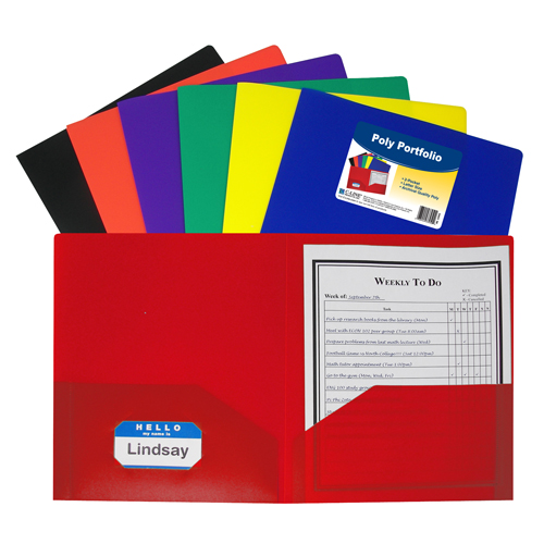 BettyMills: 2-Pocket Heavyweight Poly Portfolio Folder
