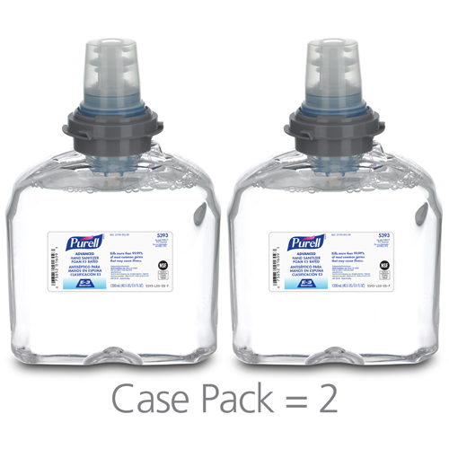 PURELL® Advanced Hand Sanitizer E3 Rated Foam, 1200 mL Refill for PURELL®  TFX™ Dispenser