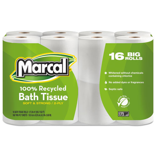 Bettymills small steps 100 recycled two ply bathroom tissue marcal mrc16466 Boardwalk 6145 bathroom tissue