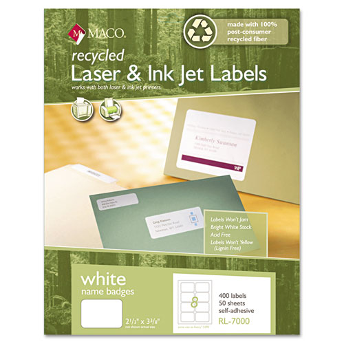 Bettymills maco recycled name badge labels chartpak for Avery template 5147