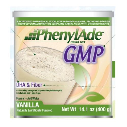 PKU Oral Supplement PhenylAde GMP Vanilla 400 Gram Can Powder