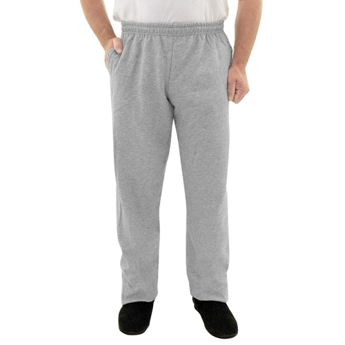 bd4b2c7d Mens Elastic Waist Fleece Track Pants - Elastic Pull On Pant For Men