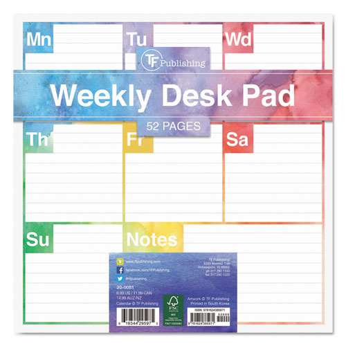 Bettymills Color Me Weekly Desk Pad Tf Publishing Tfb200264