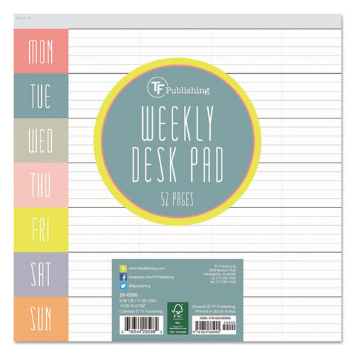 Bettymills Glory Days Weekly Desk Pad Tf Publishing