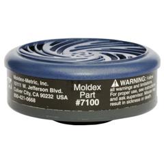 MLD507-7100 - Moldex - 7000 & 9000 Series Gas/Vapor Cartridges, Organic Vapors, Black, 1 Pair
