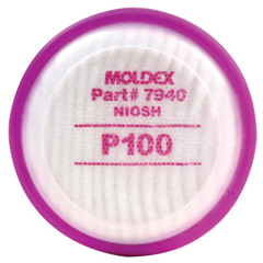 MLD507-7940 - Moldex7000 & 9000 Series Filter Disks, Oil And Non-Oil Particulates, P100, 1 Pair