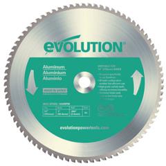 EVO510-14BLADE-AL - EvolutionTCT Metal-Cutting Blades, 14 In, 1 In Arbor, 1,600 RPM, 80 Teeth