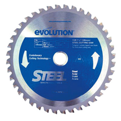 EVO510-185BLADE-ST - EvolutionTCT Metal-Cutting Blades, 7 1/4 In, 5/8 In Arbor, 5,000 RPM, 40 Teeth