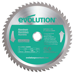 EVO510-230BLADE-ST - EvolutionTCT Metal-Cutting Blades, 9 In, 1 In Arbor, 3,000 RPM, 48 Teeth