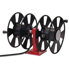 RLC523-T24620 - Reelcraft250 Amp Arc Weld, Dual Weld, Side-By-Side W/Out Cable Hose Reel,24Ft,150Ft Cable