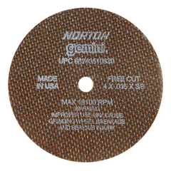 NRT547-66243510630 - NortonType 01 Gemini Reinforced Cut-Off Wheels