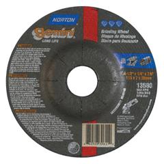 NRT547-66252843594 - NortonGemini Cut-Off Wheel, Type 27, 1/4 In Thick, 4 1/2 In Arbor
