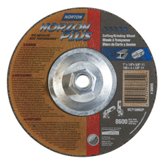 NRT547-66252938855 - NortonType 27 NorZon Plus Depressed Center Grinding Wheels