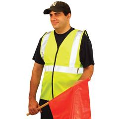 OCC561-LUX-SSG-YL - OccuNomix - Economy Single Band Vest