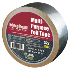 BER573-1087627 - Berry Plastics322 Multi-Purpose Plain Foil Tape, 2 In X 50 Yd, 5 Mil, Aluminum Silver