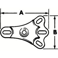 PTO577-4277B - ProtoRear Axle Flange Foots