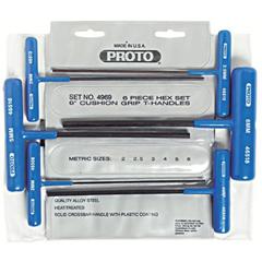 PTO577-4969 - Proto6 Piece Metric T-Handle Hex Key Sets