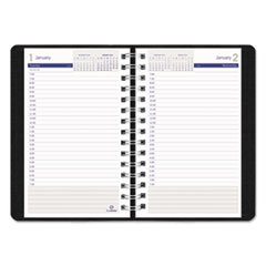 REDC21021T - DuraGlobe Daily Planner Ruled For 30-Minute Appointments, 8 x 5, Black, 2019
