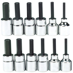 BLH578-HW-9412S - Blackhawk12 Piece Hex Bit Socket Sets, 3/8 In