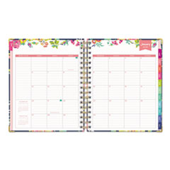 BLS103626 - Day Designer Gold Corner Weekly/Monthly Planner, 9 x 7, Navy/Floral, 2019