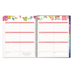 BLS103617 - Day Designer CYO Weekly/Monthly Planner, 8 1/2 x 11, Navy/Floral, 2019