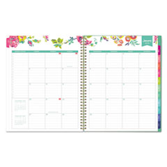 BLS103618 - Day Designer CYO Weekly/Monthly Planner, 11 x 8 1/2, White/Floral, 2020