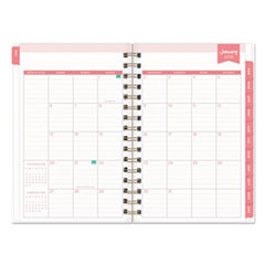 BLS103623 - Day Designer Daily/Monthly Planner, 8 x 5, Navy/White, 2020