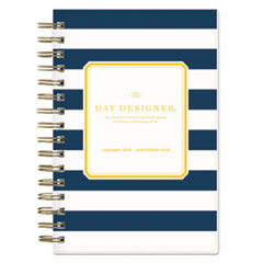 BLS103623 - Day Designer Daily/Monthly Planner, 5 x 8, Navy/White, 2019