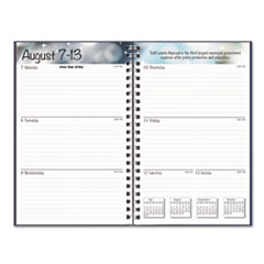 HOD27502 - Recycled Academic Weekly/Monthly Appointment Book/Planner, 8 x 5, Black, 2019-2020