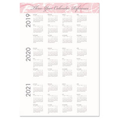 HOD5226 - Recycled Breast Cancer Awareness Monthly Planner/Journal, 10 x 7, Pink, 2020