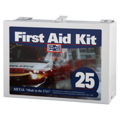 FAO579-6086 - First Aid Only - 25 Person Industrial First Aid Kits, Steel (Non-Gasketed), Wall Mount