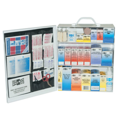 FAO579-6155 - First Aid Only3-Shelf Industrial First Aid Stations, Steel, Wall Mount