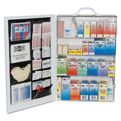 FAO579-6175 - First Aid Only4-Shelf Industrial First Aid Stations, Steel, Wall Mount