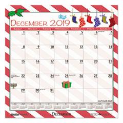 HOD338 - 100% Recycled Seasonal Wall Calendar, 12 x 12, Blue, 2019